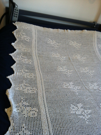 Couverture aux crochets faite main