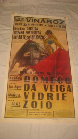 Affiche publicitaire corrida 1975