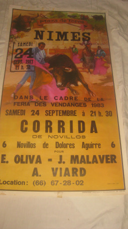 Affiche publicitaire corrida 1983