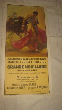 Affiche publicitaire corrida année 1984