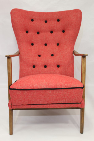 Fauteuil wing chair scandinave années 50/60