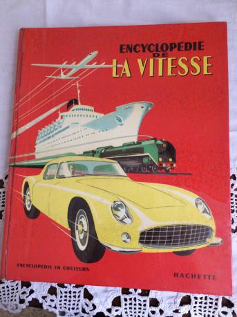 """Livre ancien """"Encyclopédie de la vitesse"""" 1956"""