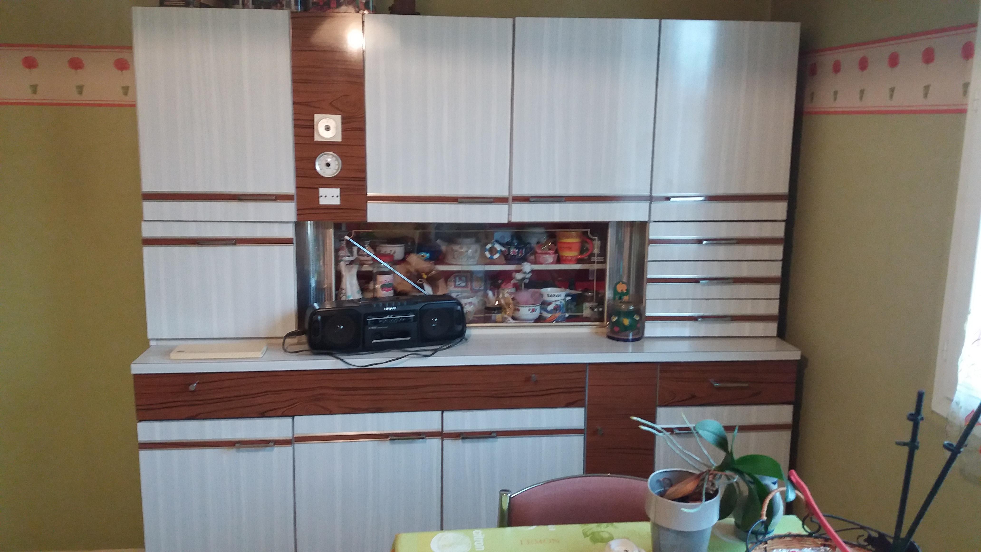 Buffet cuisine formica années 70