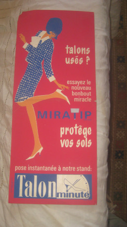 Ancienne affiche publicitaire années 60 originale