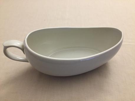 ravier ou saucière en porcelaine blanche