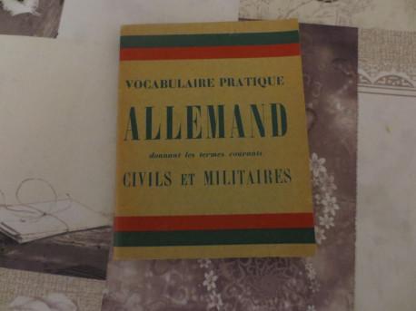 Vocabulaire pratique allemand de 1940 (ANCIEN)
