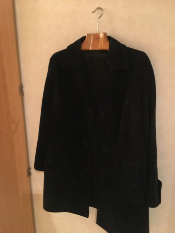 veste en daim noir