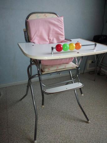Chaise Haute ou Basse année 60 en Chrome et Formica