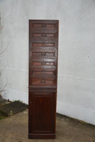 meuble de rangement à clapets, meuble de métier ancien