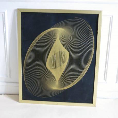Grande lithographie cinétique circa 1970