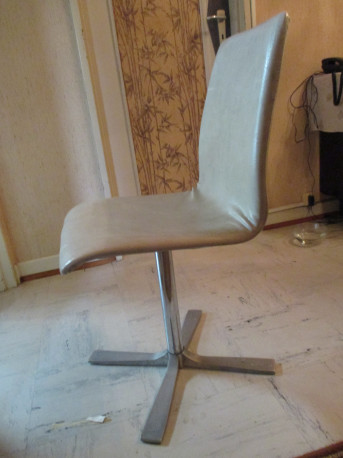 Chaise et table vintage des années 60