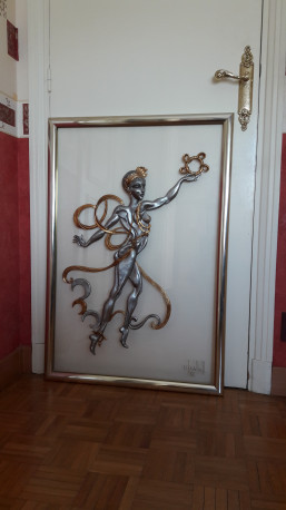Tableau sculpture de Chantal WOLKOFF (91 x 65) vintage