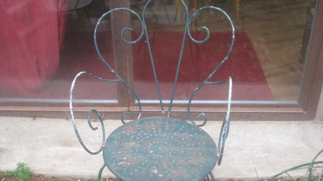 2 fauteuils fer forgé