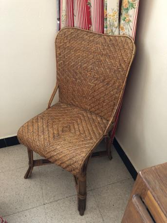 Chaise tressée vintage