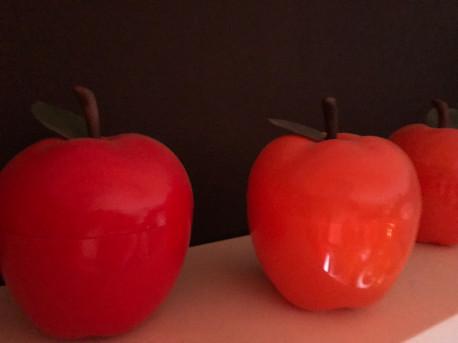 Pomme Orange Bac à glaçons avec feuilles 70's - Vintage