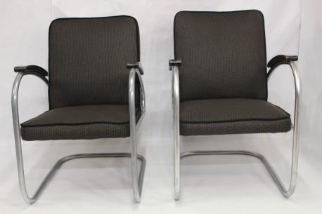 Paire de fauteuil Cantilever, Modèle RS7, de Mauser Werken, 1930s