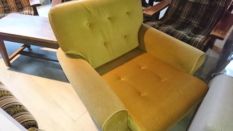 Lot canap 4 places et 2 places et fauteuil vintage for Fauteuil 4 places