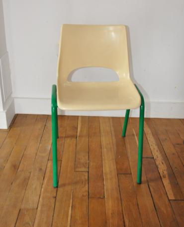 Chaise maternelle écrue