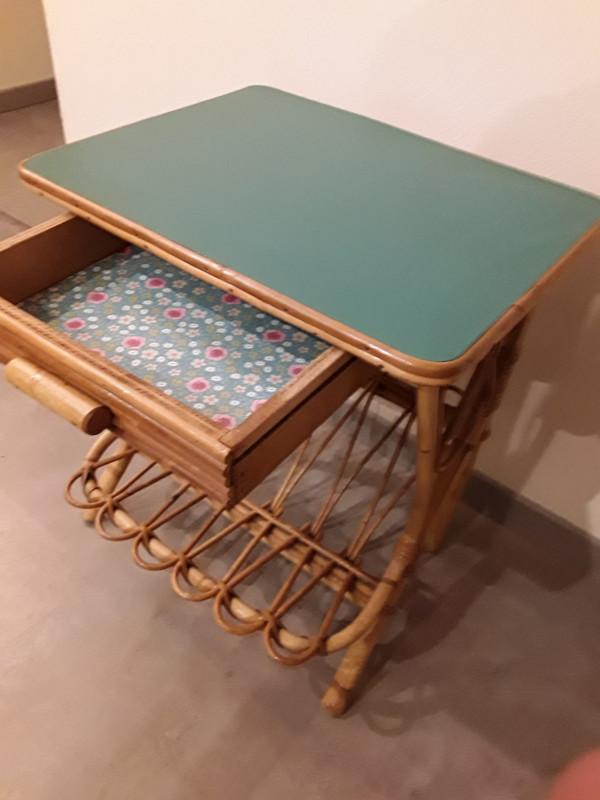 Table chevet rotin petite table chevet rotin with table - Table de chevet en bambou ...