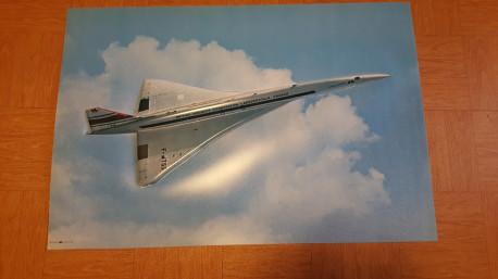 Poster semi rigide en relief prototype Concorde F-WTSS