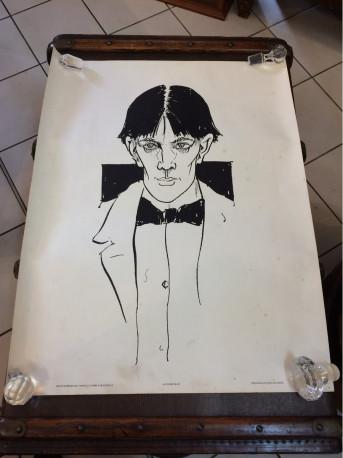 Affiche Audrey Beardsley autoportrait