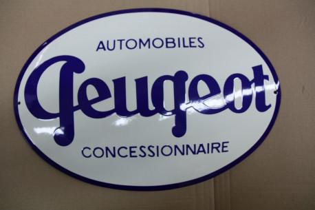 Plaque Emaillée Peugeot