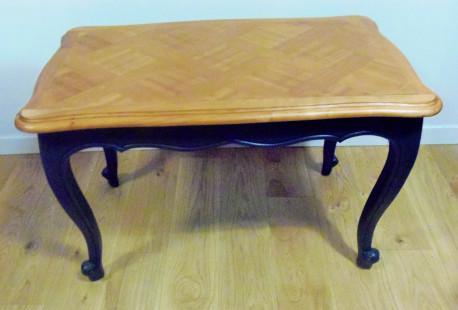 table vintage en bois restaurée
