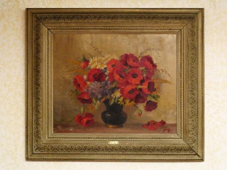 """Huile sur toile """"Flores de Campo"""" de JUSTH"""