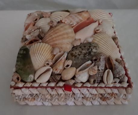 Jolie boîte à bijoux en coquillages Bord de mer Vintage