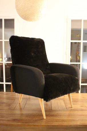 Fauteuil vintage inspiré Lady de Marco Zanuso des années 1950.