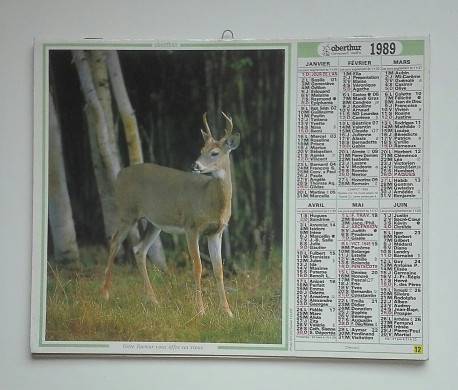 ALMANACH des PTT 1989