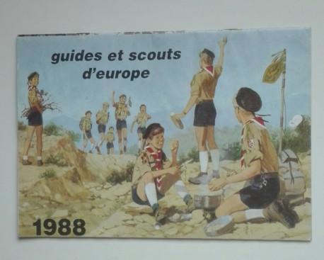 Calendrier guides et scouts d'Europe 1988