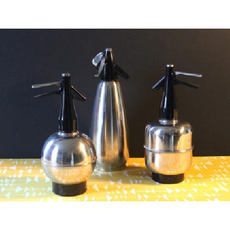 Trio de siphons en inox et bakélite