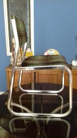 Superbes chaises imprimé psychédélique suite 7 chaises de 1974 Vintage PRIX A L UNITEE