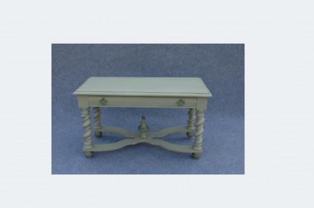 Table d'appoint en chêne gris bleue
