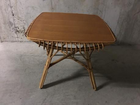 table basse en rotin ann es 60 les vieilles choses. Black Bedroom Furniture Sets. Home Design Ideas