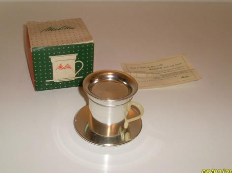 Porte filtre tasse à café vintage Melitta