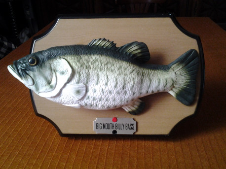 BIG MOUTH BILLY BASS (le fameux poisson chantant) super vintage collector