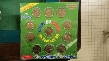 Monnaie de Paris médailles de la Coupe du Monde 1998 - Complet et rare !