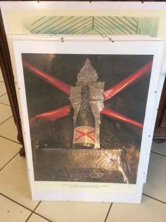 affiche sous cadre champagne castellane