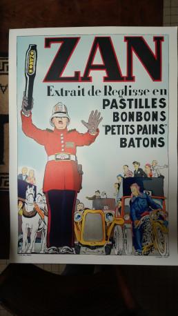 AFFICHE LITHOGRAPHIE PASTILLES ZAN REGLISSE HARIBO 2003 IDL PARIS RARE !