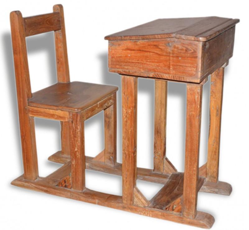 set chaise et pupitre d 39 colier ancien les vieilles choses. Black Bedroom Furniture Sets. Home Design Ideas