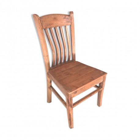 Chaise avec dos courbé ancienne