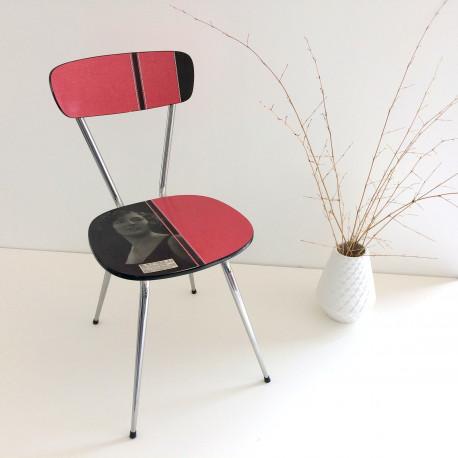 chaise formica rouge rétro vintage