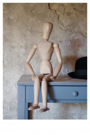 Pantin mannequin de peintre articulé vintage bois ancien