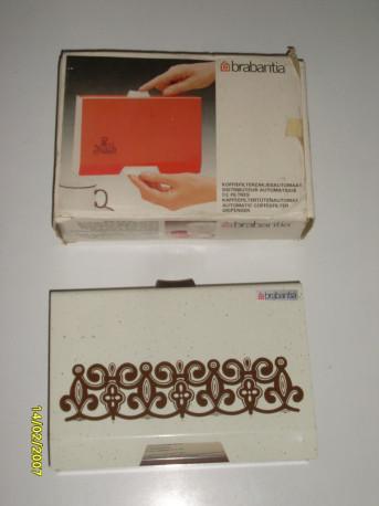 Distributeur automatique de filtres a café vintage Brabantia