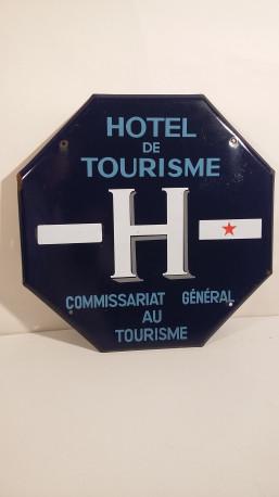 Plaque émaillée hôtel de tourisme