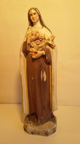 Statuette de Sainte Thérèse en plâtre