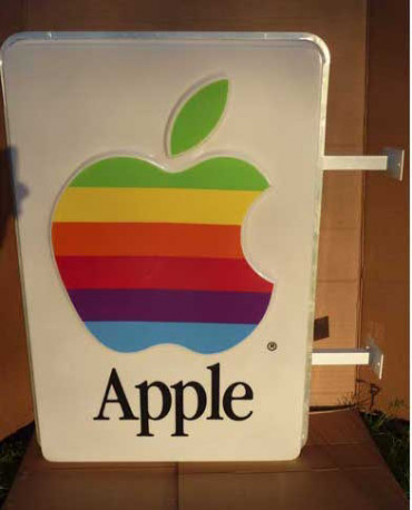 Enseigne Apple Vintage