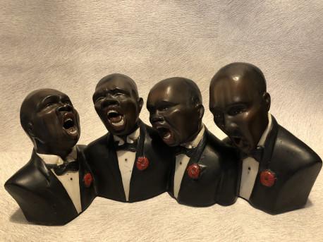 Statue platre Jazzmen vintage